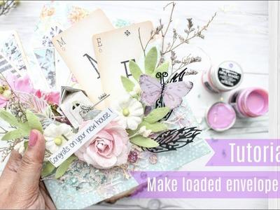 How to make a loaded envelope card | Aola DIY | Fantasy Dies
