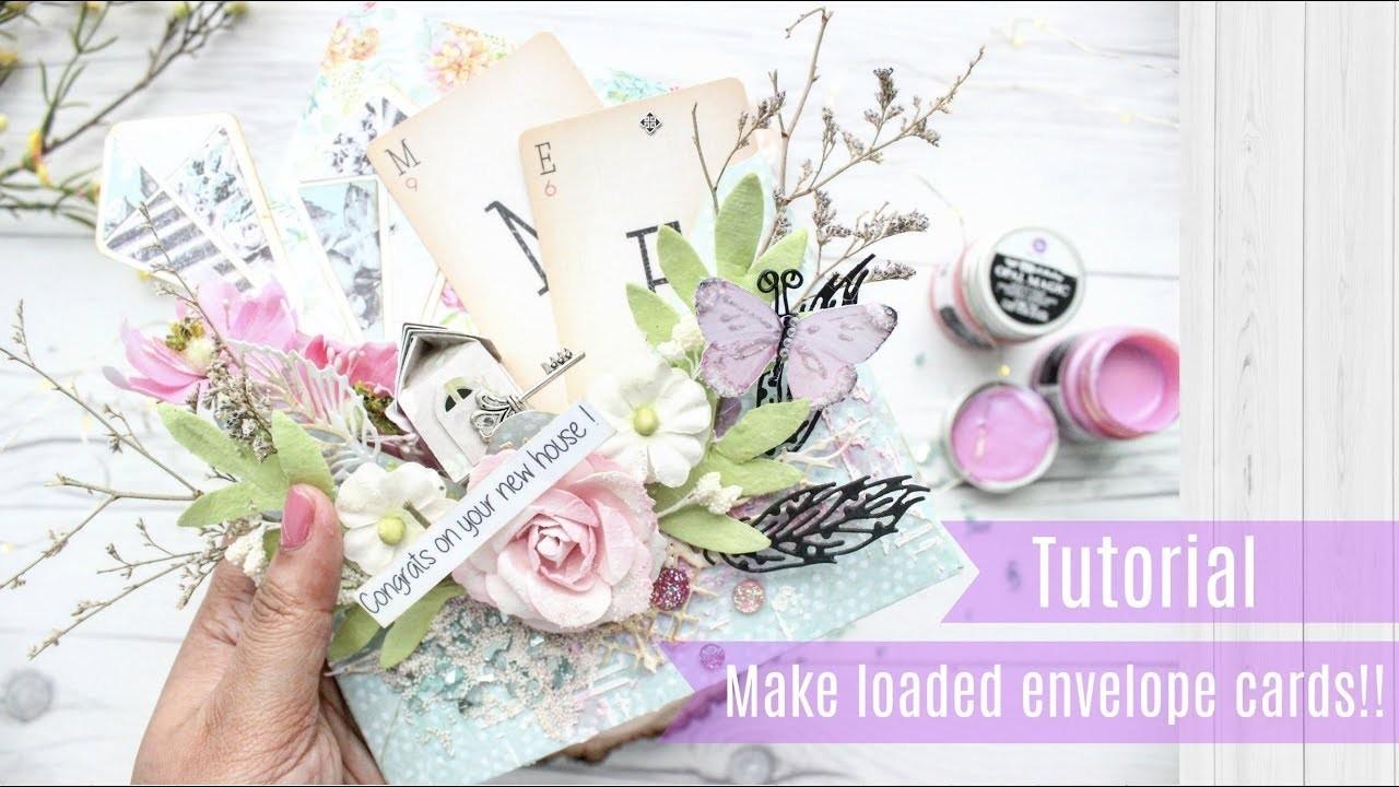 How to make a loaded envelope card   Aola DIY   Fantasy Dies