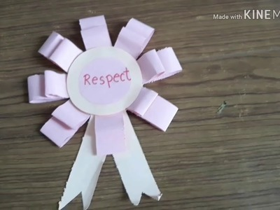 How to make a paper badge