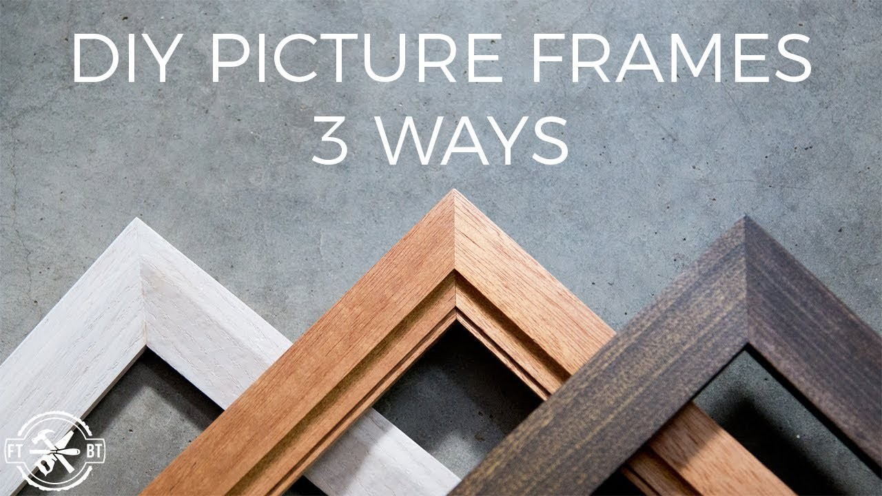 How to Make a Picture Frame 3 Ways   DIY Woodworking