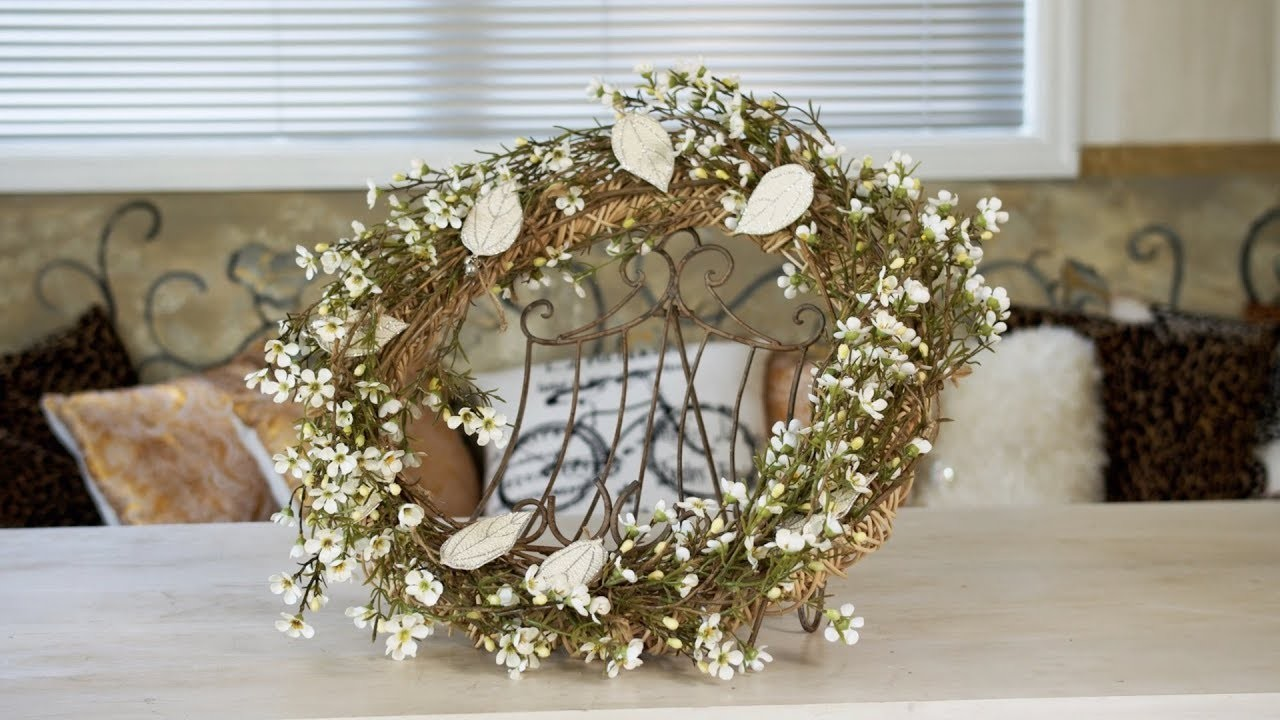 How to Make a Wildflower Christmas Door Wreath (Part One)