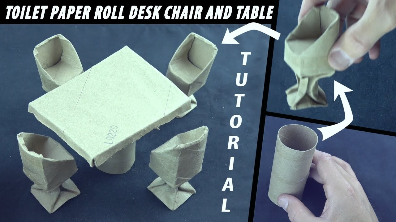 How to make an Origami Desk Chair from Toilet Paper Rolls