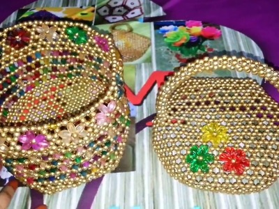 How to make beadead basket (part -2)