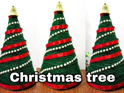 How to make beautiful christmas tree very easy using news paper