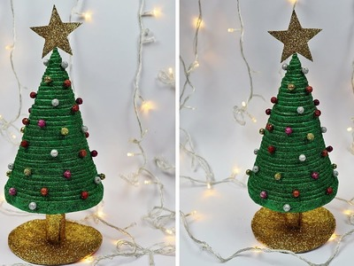 How to make Christmas Tree From Newspaper   Recycled Christmas Tree   Christmas Decor