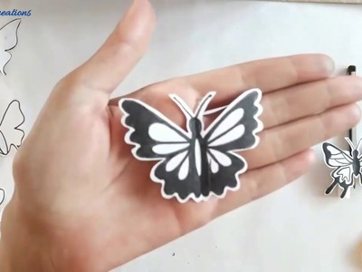 How to make different designs of butterfly || Draw, cut and design