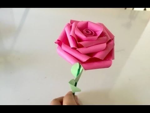 how to make rose with paper easy