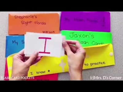 How to Make Flash Card Pockets - Mrs. D's Corner