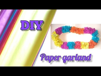 How to make garland from tissue paper for home decoration