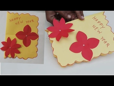 How to make Happy New year greeting cards.,paper greeting cards crafts ideas Handmade