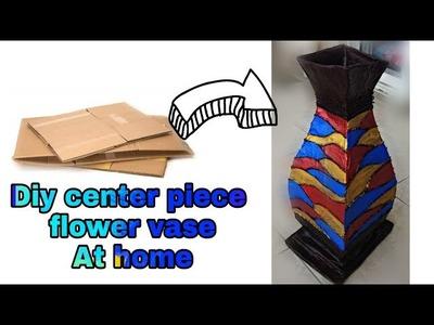 How to make large flower vase at home. Diy flower vase. Diy cardboard craft