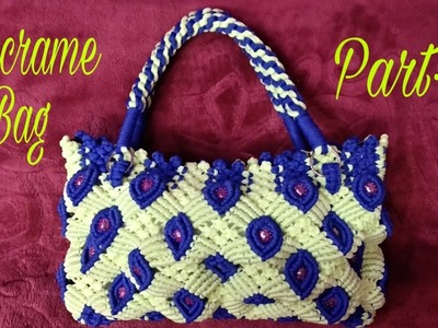 How to make macrame big size  handbag#Part-1#.