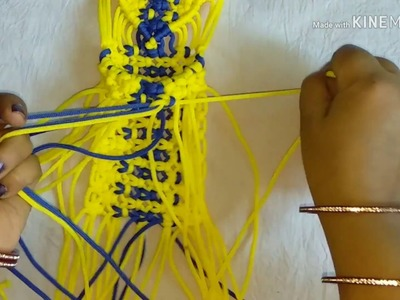 How to make macrame pocket phone holder simple and different design.