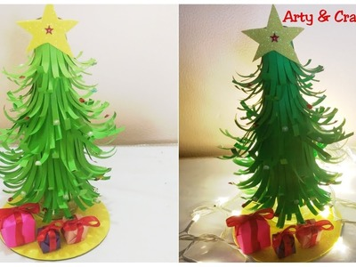How to make Mini Christmas Tree -Easy.3D Christmas Tree from Paper.Miniature Craft.Christmas Decor