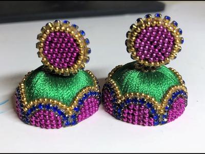 How to make new designer silk thread earrings