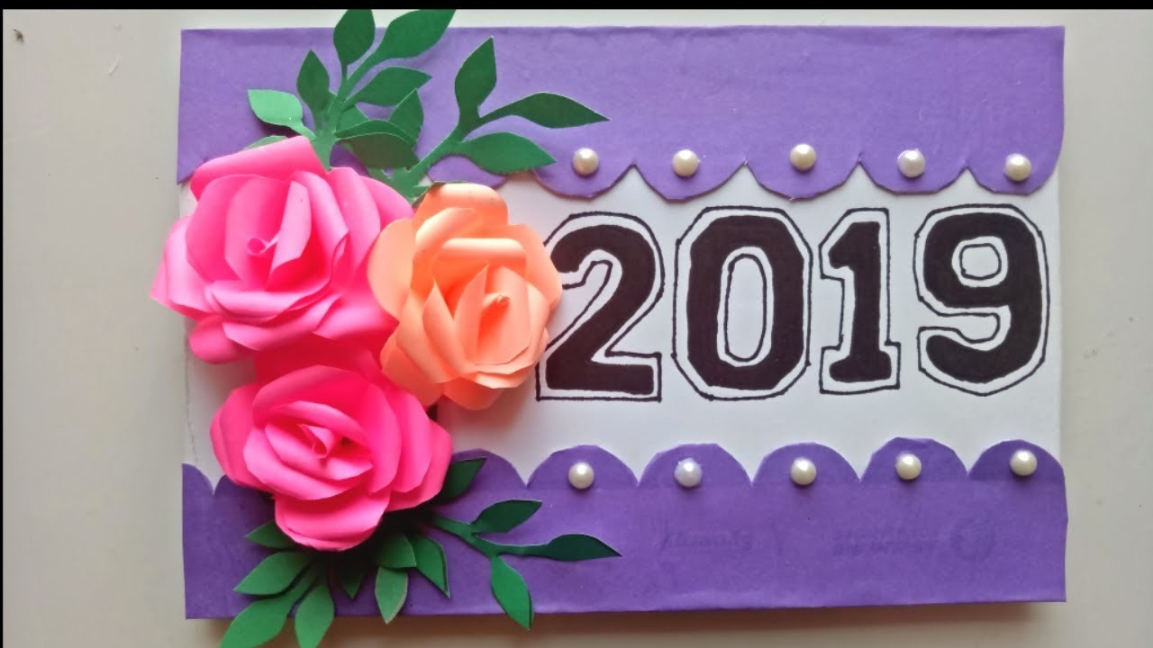 How to make new year 2019 card    New Year pop up card (handmade)