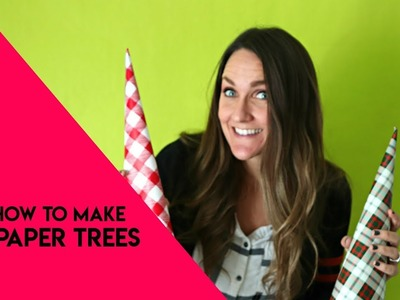 How to make paper cone trees for Christmas