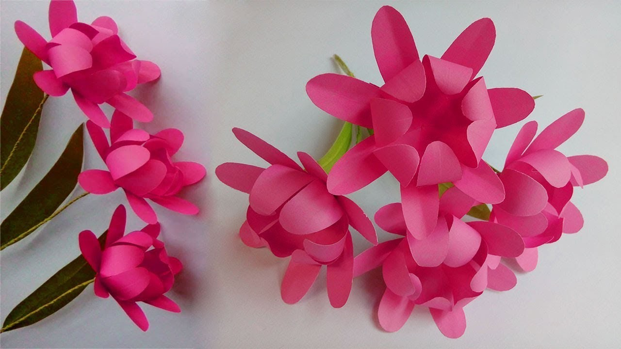 How To Make Paper Flowers Easy Paper Flowers Paper Flower Making