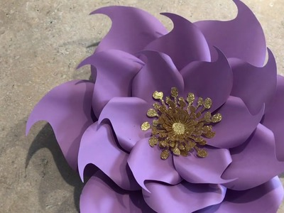 How to Make Petal 9 Paper Flower Template