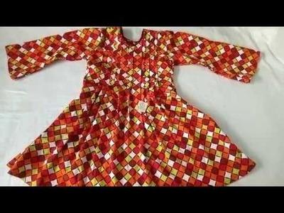 How to make pintex stylish shirt a,line  winter shirt cutting & stitching full tutorial