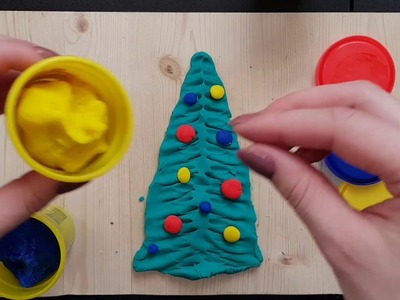 How to Make Play Doh Christmas tree for kids