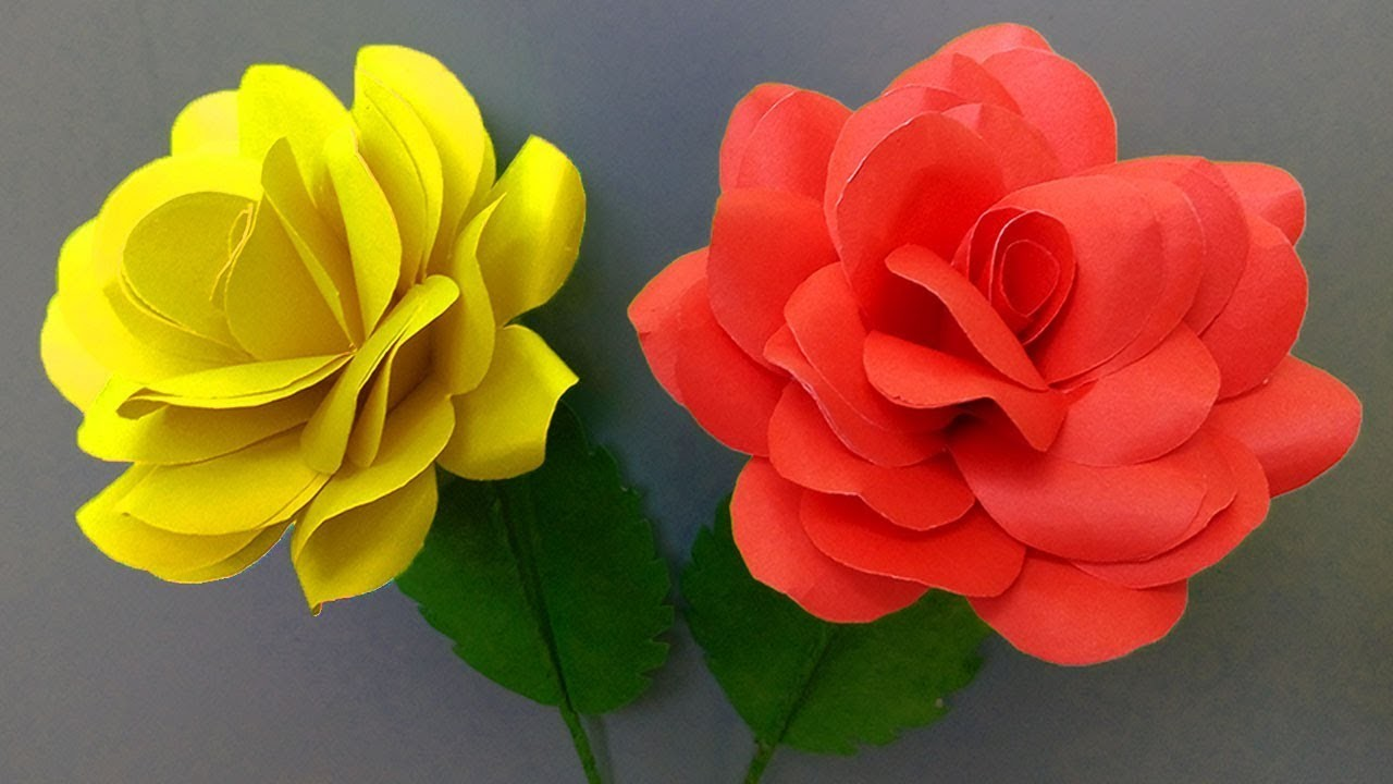 how to make roses with paper dailymotion