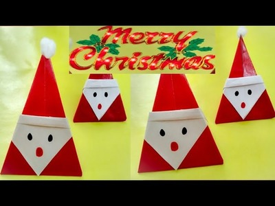 How to make santa origami || easy origami for kids