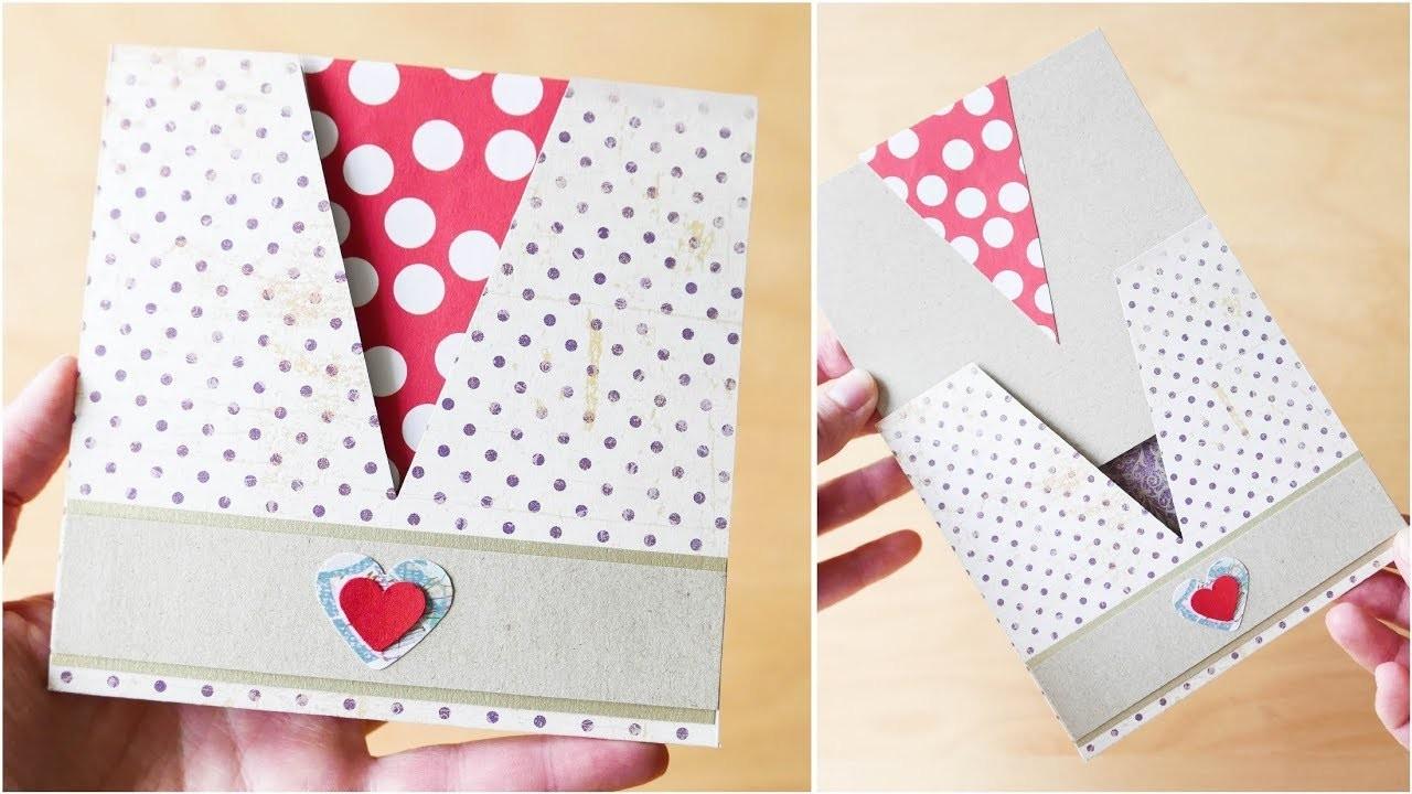How to make : Simple Envelope with a Card | Łatwa Koperta z Kartką - Mishellka #313 DIY