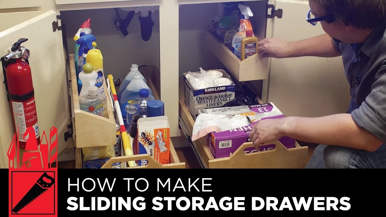 How to Make Sliding Storage Drawers for Under the Sink - Woodworking