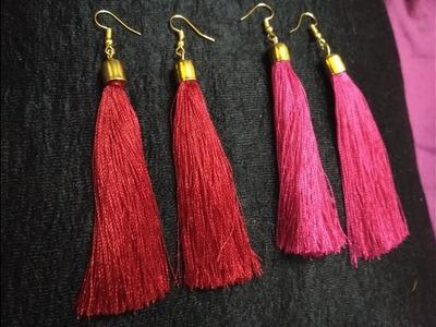 How to make tassel earrings | Simple Tassel Earrings | Silk Thread Earrings | Diy Earrings jewellery