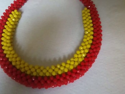 How to make tubular.  cubic right angle weave. Craw design.beads