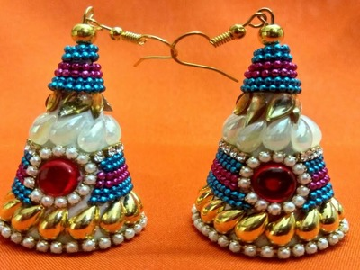 How to make Unique & beautiful jhumka | jhumka making | how to make jhumka at home