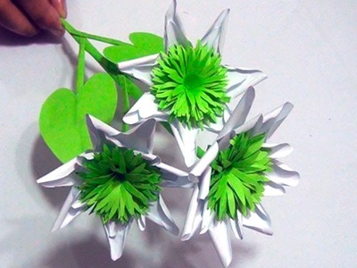 Paper How To Make A Paper Flowers Paper Crafts For Kids Art