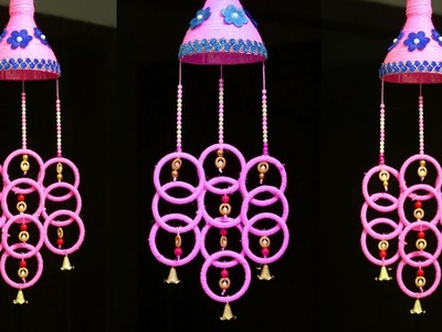 How to Make Wind Chime Out of Waste Plastic Bottle & Bangles - Best Out of Waste Ideas - Easy Crafts