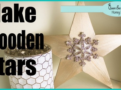 How To Make Wooden Stars for Decor