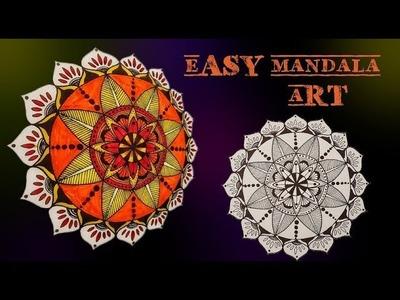 How to make your own Mandala art    Mandala tutorial for beginners   Art & Essentials