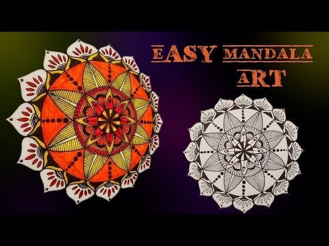 How to make your own Mandala art || Mandala tutorial for beginners|| Art & Essentials