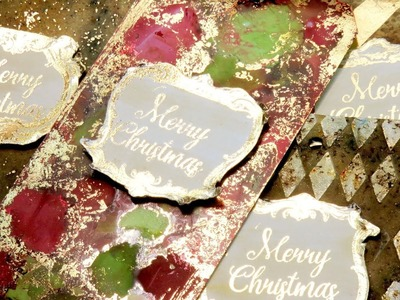 How to use foil - Christmas tags - Foiling techniques by scrapcosy