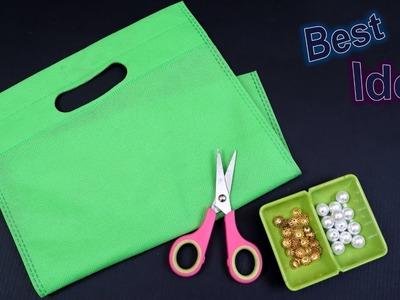 Jhumar Banane ka Tarika || Waste Shopping Bag Craft Idea || How to Make Wall Hanigng at Home