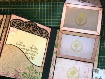 Misty Rose Mini Album   Pink and Peaches Too   Scrapbook Idea   Pop Up