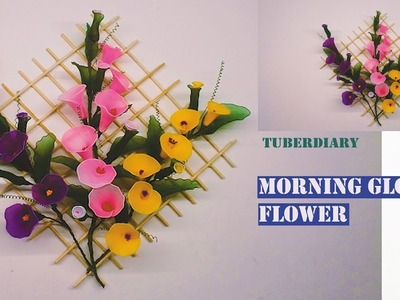 Morning glory flower wall hanging with Nylon stocking ????