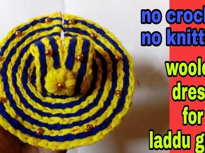 No crochet No knitting laddu gopal woolen dress. winter dress for bal gopal