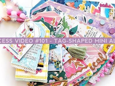 Process Video #101 - How To Create a Tag-Shaped Mini Album