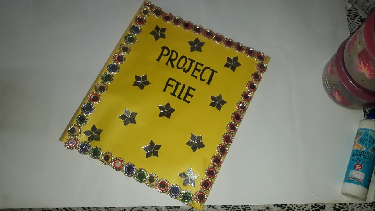 Project File Cover Decoration Project File Cover Decorations Ideas