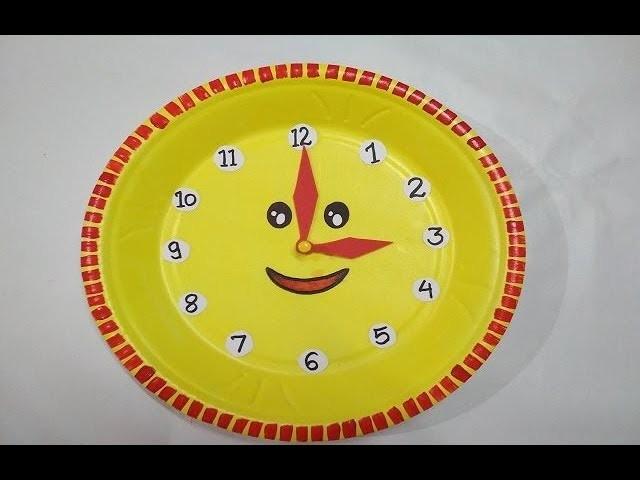 school project clock how to make clock diy clock model for kids. Black Bedroom Furniture Sets. Home Design Ideas