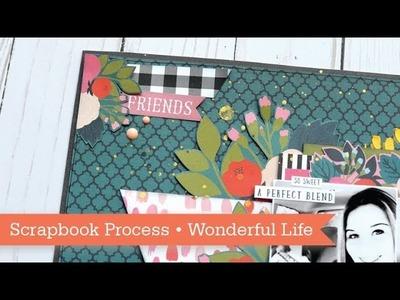 Scrapbook Process: Echo Park Coffee. It's a Wonderful Life