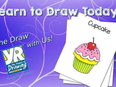 Teaching Kids How to Draw: How to Draw a Cupcake