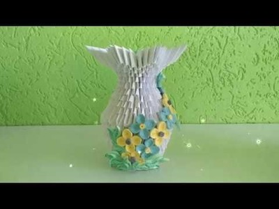 3d origami ''Set Of Vase'' Tutorial   ''Small Vase''
