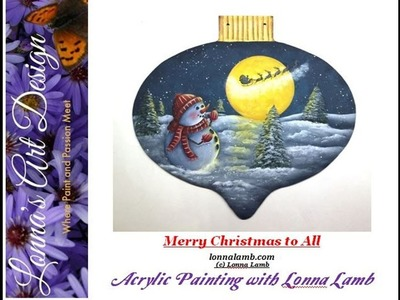Acrylic & Tole Painting Tutorial  Merry Christmas To All