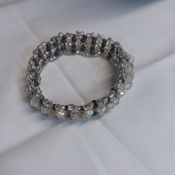 Bicone crystal bracelet